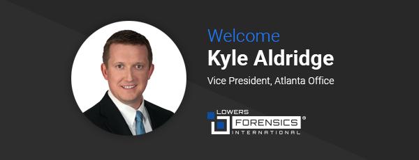 Welcome Kyle Aldridge, Vice President, Atlanta Office.