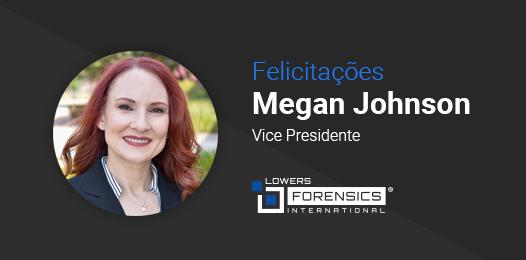 Felicitações Megan Johnson Vice Presidente