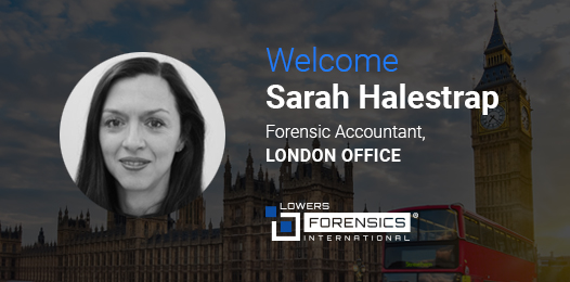 WELCOME Sarah Halestrap Forensic Accountant LONDON OFFICE